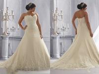 2015 Newest Fashion Luxurious Plus Size Wedding Dresses Unique Backless Wedding Dresses Gown