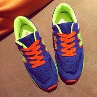 European Top Fashion 2014 Fall Winter Women Female Casual Korean Brand Thick Heel Sports Sneaker Shoes Freeshipping