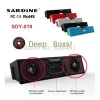2014 Newest SDY-019 Original Nizhi HIFI Bluetooth Speaker Sardine FM Radio wireless USB Amplifier Stereo Sound Box with micro
