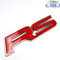 RS Personalized Letter 3D Decoration Metal Car Stickers / Car Refit Stickers - 2PCS