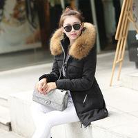 New arrival!women down coat super warm big fur collar midium long down jacket high quality down women winter coats XY108