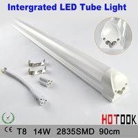 T8 14W 90cm Intergrated LED Tube Light Milky white cover Cheap price t8 G13 2835 18W 1200mm 120CM Tubo LED 85V~265V x 10pcs