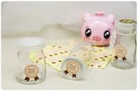 Wholesale (1512pcs) Pink Medal Handmade Sticker for Handmade Products, Pink Point sticker Free shipping