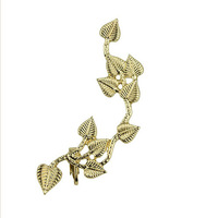 #264 New Euro-American Punk Metal Exaggerated Leaf Ear Cuff Earrings For Women Free Shipping 24pcs/lot