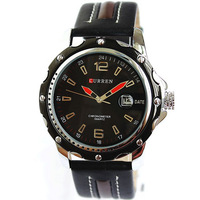 2014 Brand CURREN Men Quartz Watch Calendar Leather Strap Watches Men Dress Casual Clock Miliatry Watches Relogio Masculino