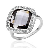 2014 New Designer Ring Women Vintage White gold Big Stone Ring Classic Shinny For Wedding