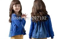 2013 fashion autumn children's clothing lovely girls long-sleeve cardigan child outerwear kids coat 5 pcs/ lot