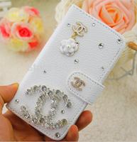 Diamond C Rhinestone PU leather case for LG L70 D320