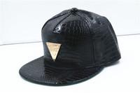 Explosion of Korean Pu triangle flat hat and Baseball Hat Visor hats wholesale hip-hop dance