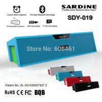 Sardine SDY-019 HIFI Bluetooth Speaker with screen, FM Radio wireless USB Amplifier Stereo Sound Box 30pcs/Carton DHL Shipping
