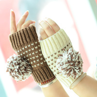 Warmer gloves girls half finger gloves winter fashion newest styles of high quality Korean free shipping