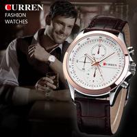 CURREN Men Quartz Watches Men Military Watch Leather Strap Watch Men Sports Watches Waterproof Casual Clock Relogios Masculino