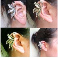 #268 Fashion Vintage Personality Leaf Ear Cuff Ear Clip Cheap Women Jewelry Wholesale 24PCS/LOT