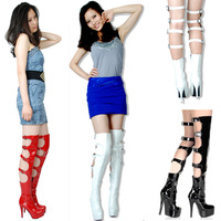 Free shipping gladiator sandals women tenis high heel women leather boots sexy thigh high summer motorcycle boots shoes woman