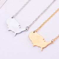 Free Shipping stainless steel USA necklaces pendants map necklace fashion Jewelry unique cute minimalist bridesmaid gift mothers