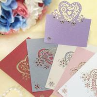 20pcs Love Heart Laser Cut Wedding Party Table Name Place Cards Favor Decor Seats Card Wedding