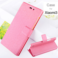 Case For Xiaomi 3 Silk Print Phone Protect Flip Cover For Xiaomi M3 PU Leather +PC High Quality Phone Shell Hot Selling 0903