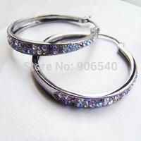 Hoop earrings 30mm Size Fashion Earrings 2014 hot sale fashion jewelry gold plating Hoop Earring DSC00300 Free shipping