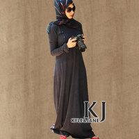 2014 hot sale women's muslim dress high quality  islamic abaya cotton dubai abaya fancy dubai kaftan Ladies islamic dress