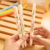 Free ship 1lot=20pcs/korean stationery kawaii Sweet garden style multi-color pen refill ballpoint pen school suppies