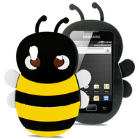 Lovely Bee Fashion Hot Sale 3D Bee Style Silicone Case for Samsung Galaxy Ace / S5830 Free Shipping