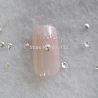 MD-722 3D 200pcs/bag Nail Decoration Small 2mm Metal Silver Shell Metal Nail Art Decoration