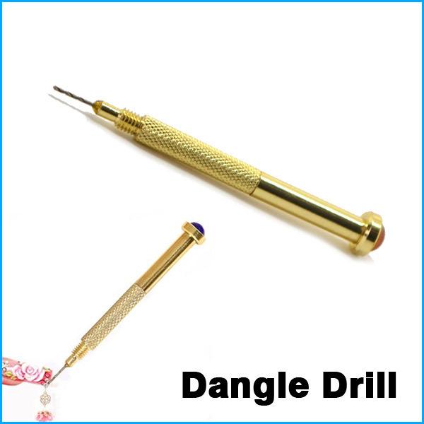 Nail Art Hand Dangle Drill Hole Maker Dotting Pen Uv Gel Acrylic Tip Piercing Tool(China (Mainland))