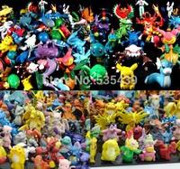 2014 NEW Hot 24 pcs/set Pikachu Pokemon Action Figures 2-4cm toy