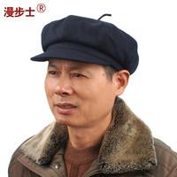 The old man winter hat walk   woolen outdoor octagonal cap male woolen hat man Hat Cap