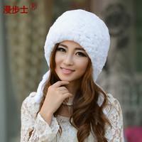 2014 new fur hat  rabbit hair hat  winter  Korean outdoor leisure cap special
