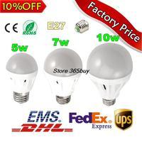 5pcs/lot Free shipping Retail Bubble Ball Bulb AC85-265V 5W/7W/10W E27 High power Globe light LED Light