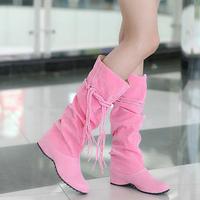 2014 Fashion Boots Female Boots Lacing High Platform Shoes Girls Canvas Shoes Casual Shoes Colorful Top Sale Plus Size Boots