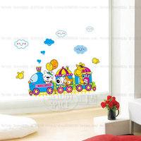Free shipping New Popular Wall Sticker Wall Mural Home Decor Room Kids Train Giraffe bear TC1102