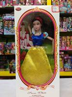 2014 NEW 11.5 INCH Popular eight princess snow white cinderella aurora ariel belle jasmine girl dolls plastic girls' gift toys
