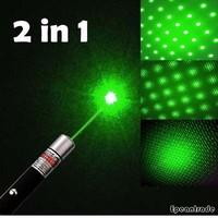 1pcs New Green Laser Pointer Beam Laser Pen High Powerful Professional Mountaineering + 1pcs star cap