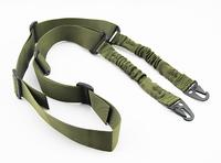 Multifunction Universal 2-Point Nylon Tactical Rifle Pistol Gun Sling CQB Elastic Bungee Snap Hook rifle gun sling - Green