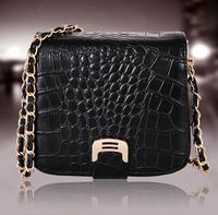 Promotion2014New Women leather handbag Fashion alligator chains women handbag shoulder bag women messenger bag desigenr lady bag