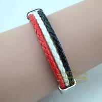 Yemen national flag leather bracelet,Casual Sport bracelet&bangle