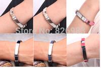 Free shipping Titanium Ionic Magnetic Energy Bracelet Power Hologram Sports Ion Balance Silicone Tourmaline bracelet Wristband