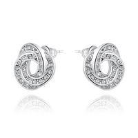 Christmas Delicate Platinum three  petals  Earrings,Gift girlfriend beautiful,Pure handmade fashionable,ROXE256
