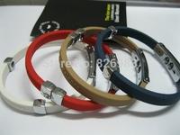 10pcs/lot Titanium Ionic Magnetic Energy Bracelet Power Hologram Sports Ion Balance Silicone Tourmaline bracelet Wristband