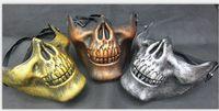2014 Promotion Men's Skull Skeleton Airsoft Game Hunting Biker Ski Half Face Gear Mask Guard 3 Colors