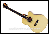 Fully handmade solid wood flat guitar
