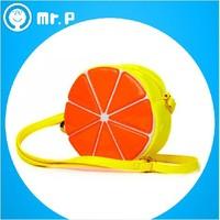 Mr.P fruit fluorescent color princess bag Children bag Messenger bag Korean fashion cute little girls pack Watermelon&Orange