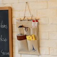 Free shipping Tower  Cotton  Storage Bag 5 pocket multi- wall bag hanging storage