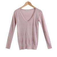 Korean Women / 2014 summer new / high-grade rabbit hair long-sleeved sweater / sweater / v-neck sweater / Fashion / Designers