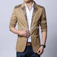 Fashion blazerCheap Wholesale  Spring new men's casual jackets men's Slim leisure suit D049blaser_Man fashion blazer
