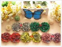 200pcs baby infant accessories girl hair flower shabby flowers chiffon lace ruffles heads flower headwear baby