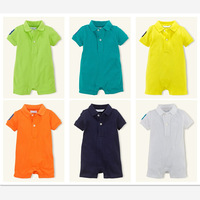 Summer Newborn Baby Romper Baby Boy Clothes New 2015 Children's Clothing Baby Rompers Roupas Meninos Polo Cotton Baby Clothing