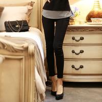 OVO!2014 new cute korean style render pants solid color slim high waist elastic capris pencil pant F.KZ.W.063